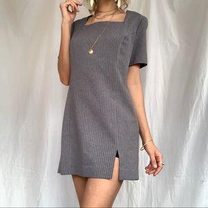 Vintage gray t shirt mini dress